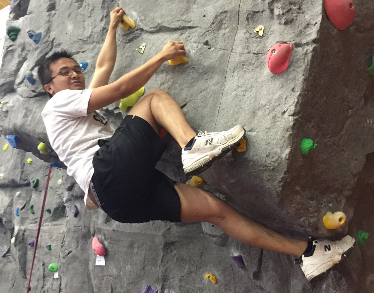 Dominic Sunga, the PageFreezer Sales Development Manager, is an avid rock climber.